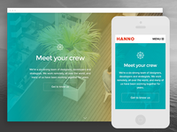 New hanno.co homepage