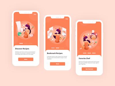 Everyone loves cooking! food food app cooking app uiux app landing page ui simple design illustration digital