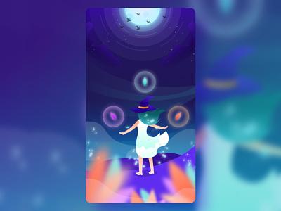 Let's make a magic book cover fiction supernatural magic wizard ui book design illustration