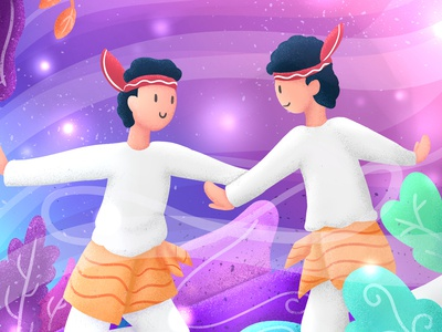 34HPI - Aceh 34hpi tari nusantara aceh culture dance indonesia flat illustration illustration flat simple digital design