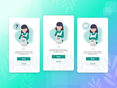 Meal Kit Service App Splash Screen cook food app landing page flat illustration illustration design digital uiux ui