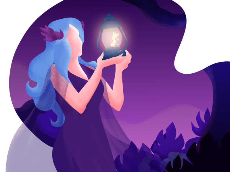Pixie Trap pixie fairy purple magic ui vector girl gradient illustration design drawing