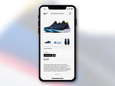 Nike Store App Concept ui ux epicreact clean minimal store design iphonex nike