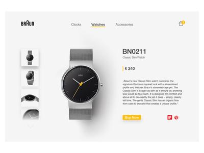 Braun-Watches redesign sketch rams dieter clean minimal ux ui website watch braun