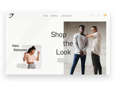 Gymshark Landing Page gymshark homepage clean 2018 fitness gymshark page landing sketch screen ui minimal website