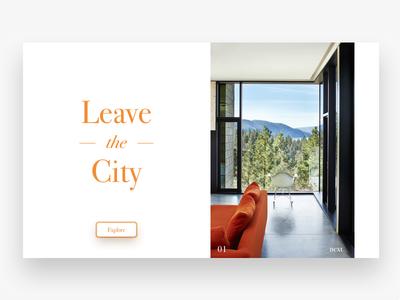 Leave The City explore nature sketch clean minimal layout ui ux website