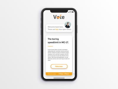 Voting App sketch clean minimal design vote ui ux iphonex ios app