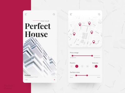 Perfect House - mobile concept mobile design mobile ui price range ui design ui range map apartment house developer concept mobile house