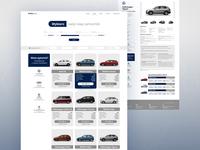 Car Dealer - website form uidesign ui lists website webdesing skoda volkswagen vw audi filters search car dealer car