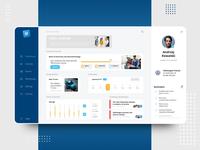 e-learning platform - desktop app statistics menu ui design dashboard app concept e-learning desktop app