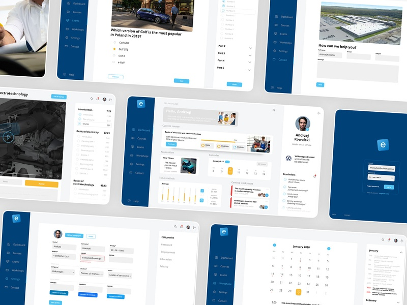 e-learning platform - screens concept uidesign ui screens desktop app desktop dashboad e-learning