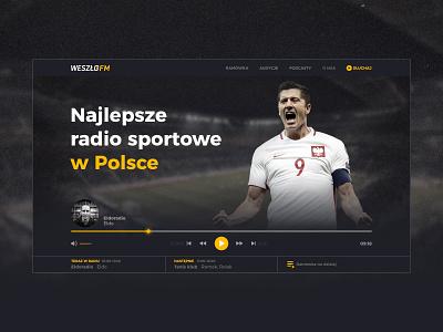 Weszlo.fm sport music player radio concept uidesign uiux ui website weszlo.fm