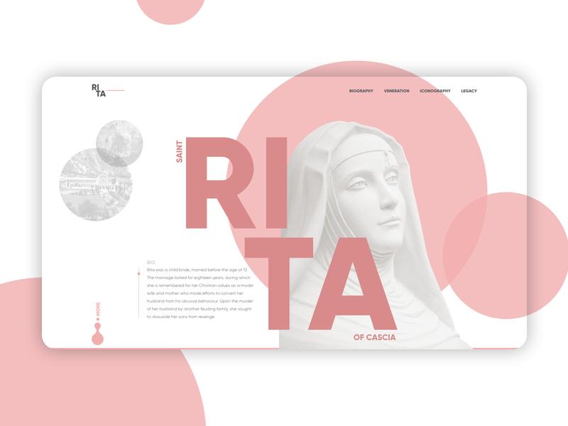 Saint Rita of Cascia uiux ui concept website casia rita saint