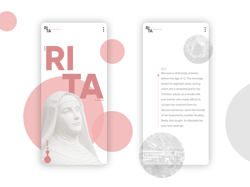 Saint Rita of Cascia #2 webdesing mobile uiux ui saint rita concept cascia