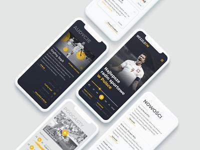 Weszlo.fm - mobile concept mobile ui ui sport podcast player radio concept redesign app mobile weszlo.fm