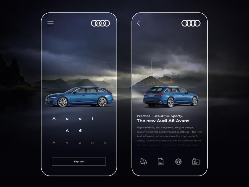 Audi A6 - mobile concept uidesign ui app concept mobile avant a6 audi