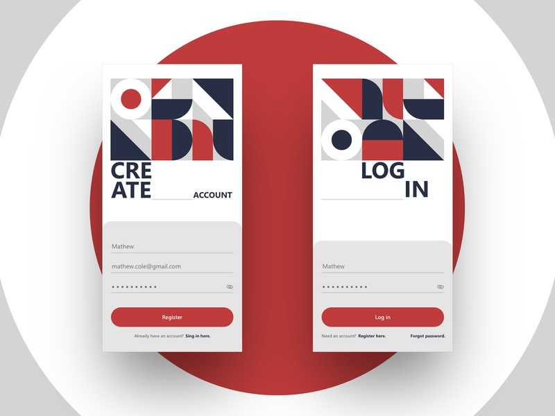 Sign in / Sign up app color pattern geometic account ui deisgn ui forms registration login sign up sign in