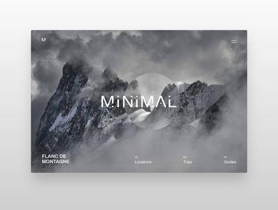 Minimal Landingpage Design Vol. 2 font website typography minimalism webdesigner webdesign landingpage minimal