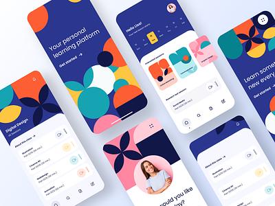 Learning Platform | Mobile Design mobile app pattern graphicdesign tutorial learning app learning learn