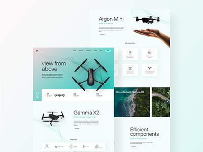Drone E-Commerce Landingpage Design website tech minimal webdesign landingpage drone