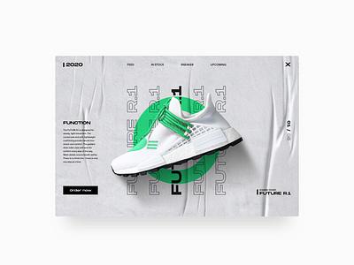 Modern Sneaker Poster Style adobexd webdesign style minimal modern poster typography sneaker