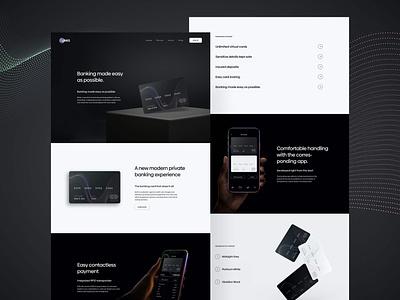 Links Banking App | Landingpage Design webdesigner website ui creditcard webdesign landinpage finance banking