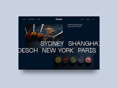 Herbs & Spices Webdesign website concept ui webdesigner herbs spices typography minimal modern products webdesign