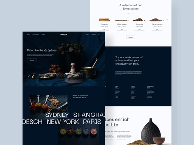 Herbs & Spices Landingpage typography minimal spice landingpage webdesign