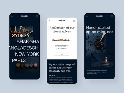Herbs & Spices Mobile Design typography modern responsive mobiledesign ui mobile