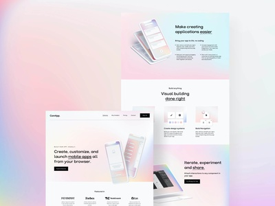 ComApp. Webdesign Concept adobexd mobile uiux app minimal gradient