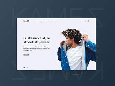 Kamez Clothing Website userexperience ui landingpage website fashion