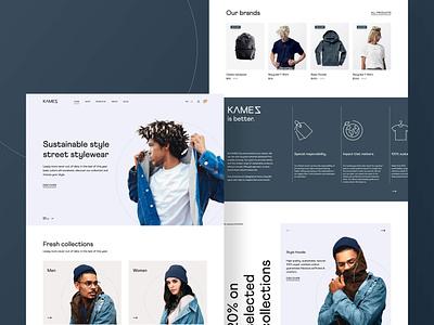 Kamez Webdesign clothing website landingpage webdesign brand