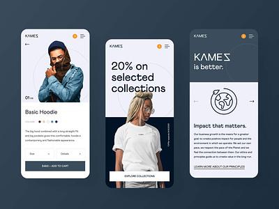 Kamez Brand Mobile Design branding minimal application ui mobile