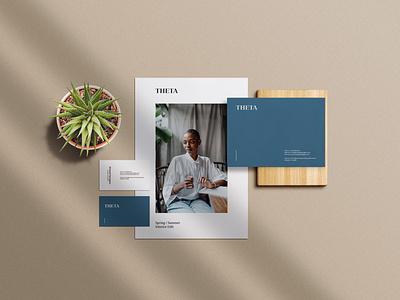 THETA Brand Style business card corporate design stationery branding
