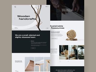 Crafta | Website Layout interior ui landingpage webdesign