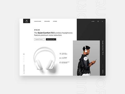 Headphone Landingpage Webdesign ui webdesign minimal headphones
