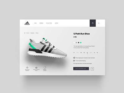 Adidas Sneaker E-Commerce fonts minimal landingpage e-commerce sneaker adidas