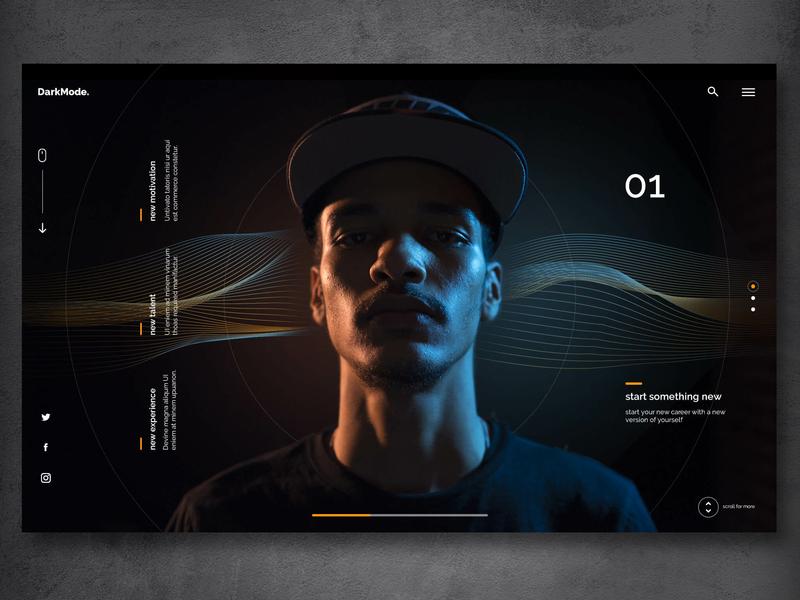 Image result for dark mode web design