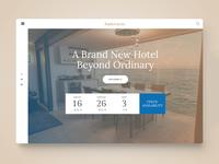 Hotel Booking Webdesign