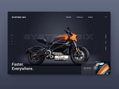 System Six Motorcycle Landingpage