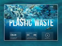 Plastic Waste   Webdesign