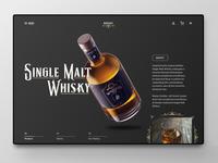 Single Malt Whisky Landingpage Design