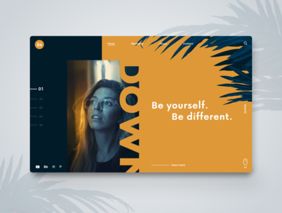 Be yourself. Webdesign Inspiraiton