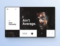 I Aint Average | Webdesign Inspiration