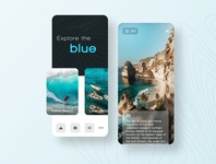 Explore the blue | Mobile Design