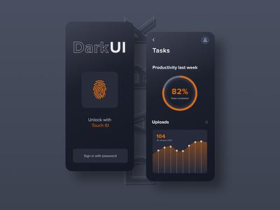 Dark UI App Design | Free Template file manager mobile ui template freebie xd dark uiux ux appdesign dark ui ui adobexd freebie