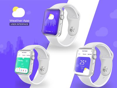 THE WEATHER APP - Apple Watch UI