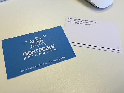 Hiring cards business card simple blue illustration edinburgh