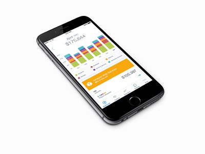 Mobile Dashboard iphone graph mobile ios apple amazon clean dashboard ui