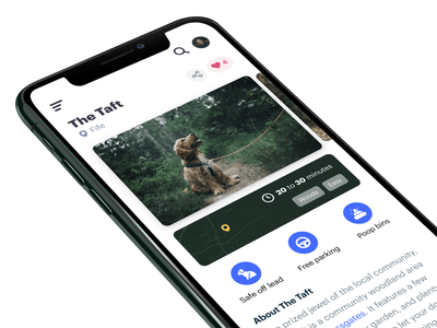 🐶 Wander ux simple gallery card ui interface user experience dog design ui